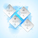 Watercolor infographics template Royalty Free Stock Photo