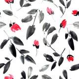 Blossom tree pattern Stock Photos