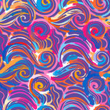 Watercolor inspiration seamless wave pattern Stock Images