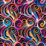 Watercolor inspiration seamless wave pattern Royalty Free Stock Photography