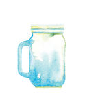 Watercolor jar Royalty Free Stock Image