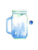 Watercolor jar Royalty Free Stock Photos