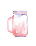 Watercolor jar Royalty Free Stock Photography