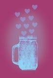 Watercolor jar Royalty Free Stock Photo