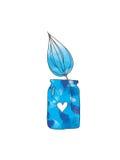 Watercolor jar Royalty Free Stock Images
