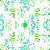 Watercolor Kaleidoscope Elements Larger Stock Image
