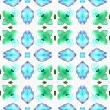 Watercolor Kaleidoscope Shape Over vector illustration