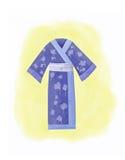 Watercolor Kimono robe Stock Image