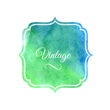 Watercolor label design element Royalty Free Stock Photos