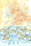 Watercolor lace background. Watercolor lace handcraft fashion vintage beauty background Stock Image
