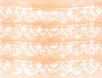 Watercolor lace. Stock Photo