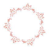 Watercolor lacy floral wreath. Stock Images