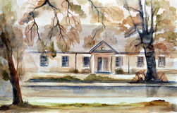Watercolor landscape Royalty Free Stock Image