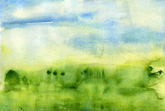 Watercolor landscape abstract texture background Stock Photo
