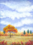 Watercolor landscape of series Stock Photography