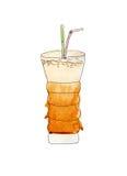 Watercolor latte Στοκ φωτογραφία με δικαίωμα ελεύθερης χρήσης