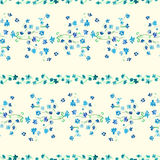 Watercolor Lavender floral Seamless pattern Royalty Free Stock Photography