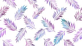 Watercolor leaves seamless pattern stock image