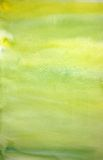 Watercolor lemon hand painted art background Stock Images
