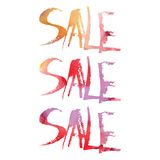 Watercolor lettering. Sale. Royalty Free Stock Photos