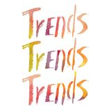 Watercolor lettering. Trends. Stock Image