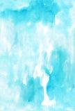 Watercolor  light blue  monochromatic handwork wet  painting col Stock Photo