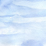Watercolor light blue winter snow sky texture background.  Royalty Free Stock Image