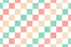 Watercolor square pattern. Stock Image