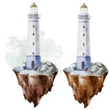 Watercolor lighthouse Royalty Free Stock Images