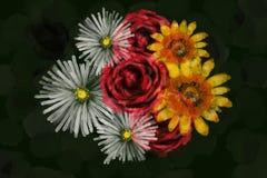 Watercolor like flowers illustration stock photo