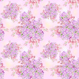 Watercolor lilac flower pattern Stock Photography