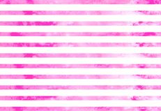 Lilac pink horizontal watercolor lines. Watercolor lilac pink stripes. Lilac pink horizontal lines  on white background Stock Photo