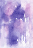 Watercolor lilac vivid abstract wash drawing  background for des Royalty Free Stock Image