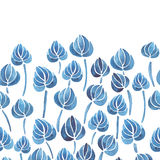 Watercolor lily flower leaf pattern Stock Images