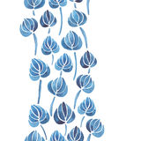 Watercolor lily flower leaf pattern Royalty Free Stock Photo