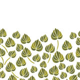 Watercolor lily flower leaf pattern Stock Photos