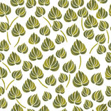 Watercolor lily flower leaf pattern Royalty Free Stock Image