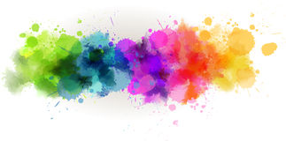 Watercolor line background Royalty Free Stock Photo