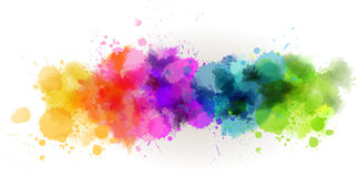 Watercolor line background. Background with multicolored watercolor line Royalty Free Stock Image