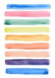 Watercolor Line Draw Stock Photo