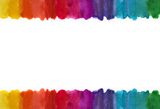 Watercolor lines frame. Royalty Free Stock Images