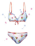 Watercolor lingerie. hand painted. Fashion illustration. Stock Image