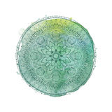 Watercolor mandala. Vector isolated element Royalty Free Stock Photos