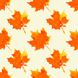 Watercolor maple leaves pattern Royalty Free Stock Photos