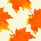Watercolor maple leaves pattern Royalty Free Stock Photography
