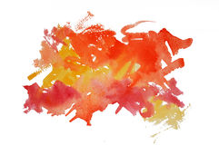 Watercolor mark Royalty Free Stock Photography