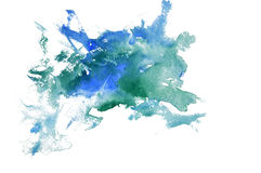 Watercolor mark royalty free stock images