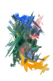 Watercolor mark. Colorful abstract watercolor painting on white background Stock Images