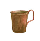 Watercolor metal cup Royalty Free Stock Photo