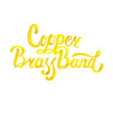 Watercolor misic lettering calligraphic inscription - copper brass band Royalty Free Stock Photography